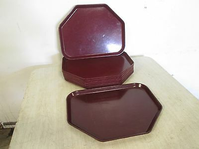 "Lot Of (12) ""cambro-Camtrays"" H.d. Commercial Docking Cafeteria Serving Trays"