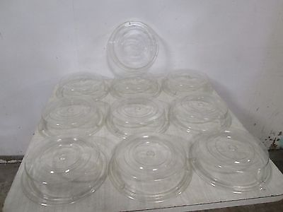 """Lot Of (10) """"cambro"""" H.d. Commercial Stackable 10"""" Plate Acrylic Dome Cover/lids"""