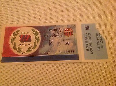 Rare Barcelona V Leeds United European Cup Football match ticket