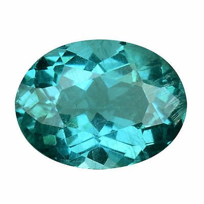 1.155Cts Attractive Luster Blue Green Natural Apatite Oval Loose Gemstones