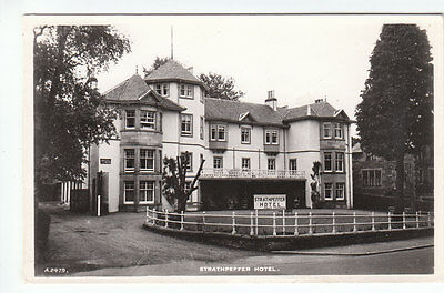 Strathpeffer Hotel Ross-shire Real Photograph JB White A2479 Old Postcard