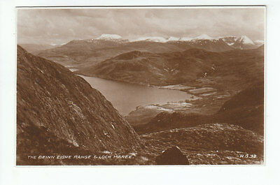 The Ben Eighe Range & Loch Maree Ross-shire 1936 Real Photograph Valentines HG38