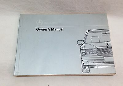 Mercedes Benz 1992 W201 190E Owner's Operator's Manual