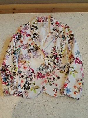 young girls ZARA pretty floral jacket age 7/8 years!