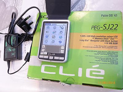 Sony Clie Personal Entertainment Organiser PEG-SJ22 Boxed with cover