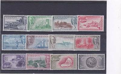Barbados 1950 Pictorial Set Sg.271-282 Lightly Mounted Mint-Mlh
