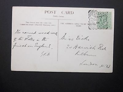 Railway 1906 KEVII 1/2d Cathedral Postcard CHESTER STATION OFFICE Squared Circle