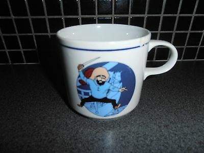 Tintin, Kuifje; RARE large coffee MUG - T&C porcelaine 1990's # tiny damage.