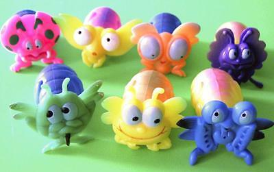 Bulk Lot x 10 Kids Mini Squirt Bugs Assorted Creatures Party Favor Novelty Toys