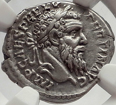 PERTINAX 193AD Silver Denarius Authentic Ancient Roman Coin Caduceus SUPERB NGC
