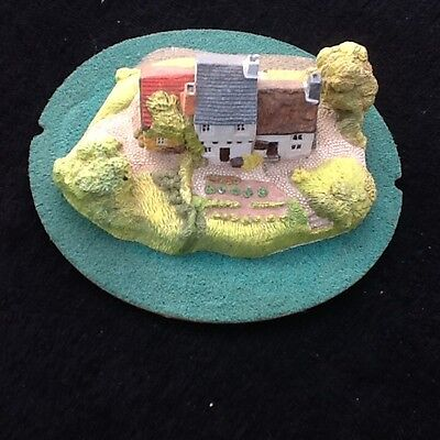 Hand-painted model cottage