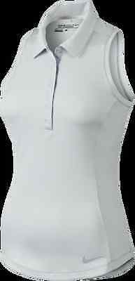 3ae92668 NIKE GOLF Women's L LARGE LG Lux Racerback Polo 2.0 685179 121 WHITE NEW  $70 NWT