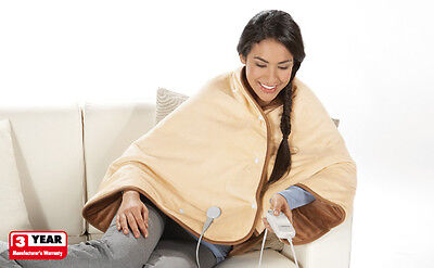 Electric Heated Shawl With 6 Temp Settings For Soothing Back Neck Ache Arthritis