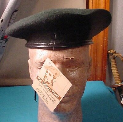 Vintage Unused Military Green Beret With Factory Tag 7 1/4 – 7 3/8