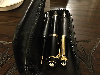 Mont Blanc Small Pen & Pencil Meisterstuck Set. Diamond Special Edition Fountain