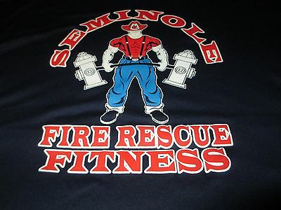 SEMINOLE Florida FIRE Rescue Fitness Quick Dry T Shirt XLarge