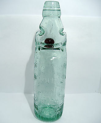 Brown Marble Codd Bottle - R.White of Camberwell c1880's
