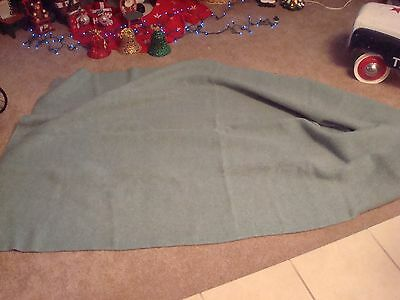 Wool Camp Blanket No Tag  Light Green