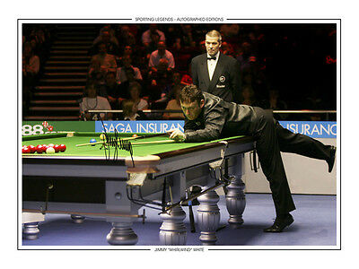 • HAND SIGNED 16x12 PHOTO EDITION SNOOKER 2006 JIMMY 'THE WHIRLWIND' WHITE