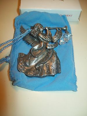 Avon Pewter Christmas Ornament 2002 ANGEL with Box