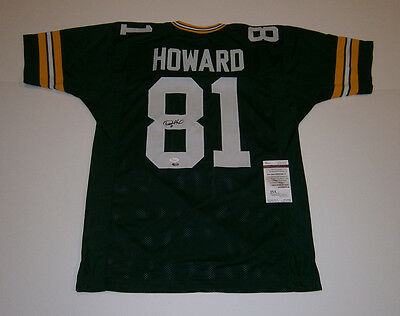 PACKERS Desmond Howard signed custom green jersey #81 JSA COA AUTO Autographed