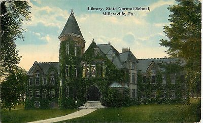 1914 Library, State Normal School, Millersville, Pennsylvania Postcard