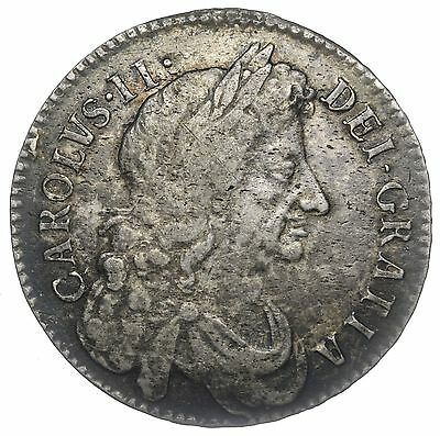 1683 Halfcrown - Charles Ii British Silver Coin - Nice