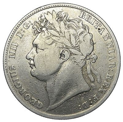 1823 Halfcrown - George Iv British Silver Coin