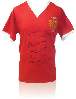 • Hand Signed Shirt Man United 1958 Fa Cup Final + Proof