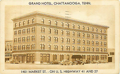 Grand Hotel, Chattanooga, Tennessee, Vintage Postcard