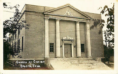 Church Of Christ, Rppc, Sparta, Tennessee, Vintage Postcard