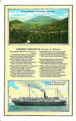 S.s. Chattanooga & Lookout Mountain, Tennessee, Vintage Postcard