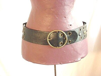 Black Studded Wide Belt Renaissance Garb size Small 7 9 Faux Leather