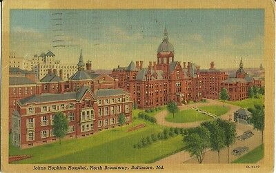 John Hopkins Hospital, North Broadway in Baltimore Maryland 1957