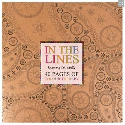 40 Page A4 Adult Colouring Book Relaxation Creative Grown Up Colour Craft Relax