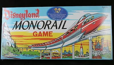 Disney Parker Brothers 1960 Reissue Disneyland MONORAIL Board Game 50th - SEALED