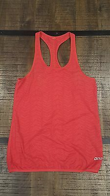 Pre-loved LORNA JANE active wear racer singlet tank. Cherry red.