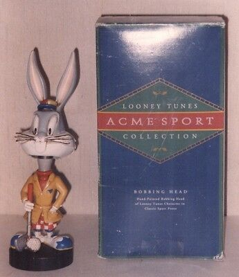 Looney Tunes Bugs Bunny Golfer Bobblehead with Box 1993 Acme Sport Collection