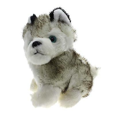 Soft 18CM Mini Simulation Kawaii Husky Dog Plush Toy Presen for Kids Children