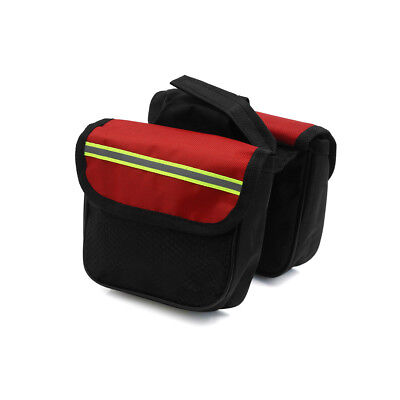Bike Double Side Rack Rear Seat Tail Carrier Pannier Bag Storage Black Red