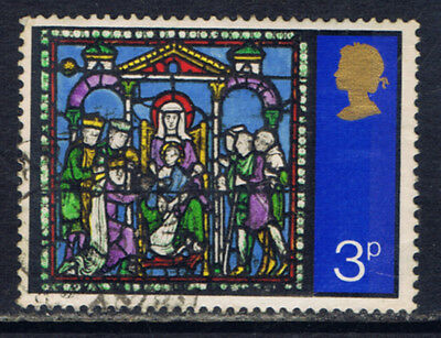 Great Britain #662(5) 1971 3 pence CHRISTMAS - ADORATION OF THE KINGS Used