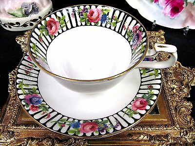 Allertons Tea Cup And Saucer Roses Trellis Painted Teacup Pattern