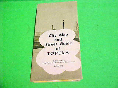 1960 City Map And Street Guide Of Topeka Kansas