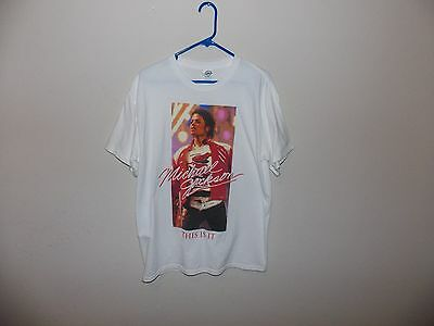 Michael Jackson This Is It Graphic Tee Shirt (Men L)