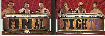 2012 UFC Knockout Final Fights Booklet Liddell,Hughes,Hamill,Lytle,Couture,Almei