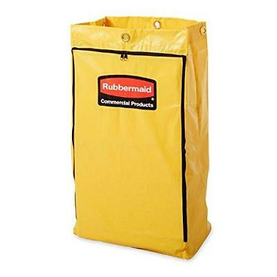 Rubbermaid FG618300 Vinyl Replacement Bag with Zipper for Cleaning Cart, New