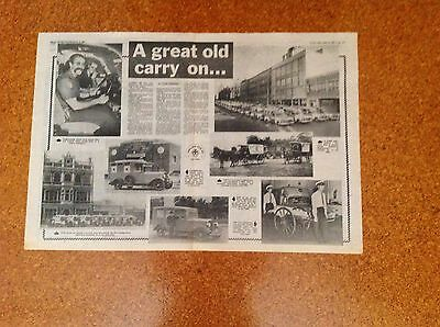 1982 Original  Double Page Australian Article For History Of Ambulances