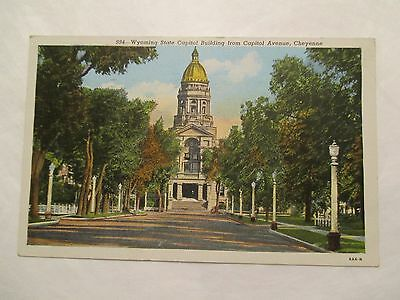 State Capitol building from Capitol Avenue Cheyenne Wyoming WY Postcard