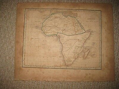 Antique 1835 Africa Bradford Map Cape Colony Hottentot Moon Kong Mountain Rare