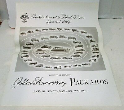 Golden Anniversary Packard Dealer Showroom Poster 1915 1920 1934 1939 1948 1949